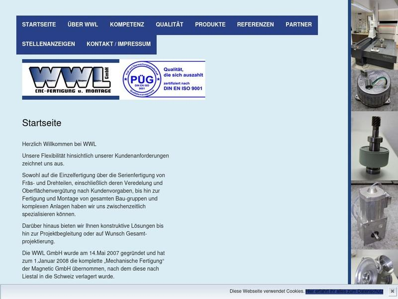 Screenshot von www.wwl-zell.de